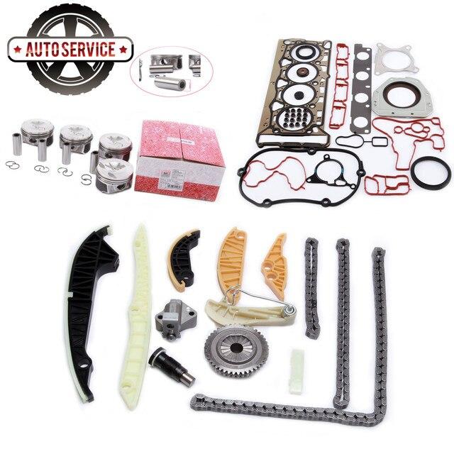 New 06H107065AM 06H 198 151C Engine Piston Assembly & Repair Kit For VW Golf Jetta Passat Audi A3 A4 A5 SKODA SEAT 06H 103 483 D 1