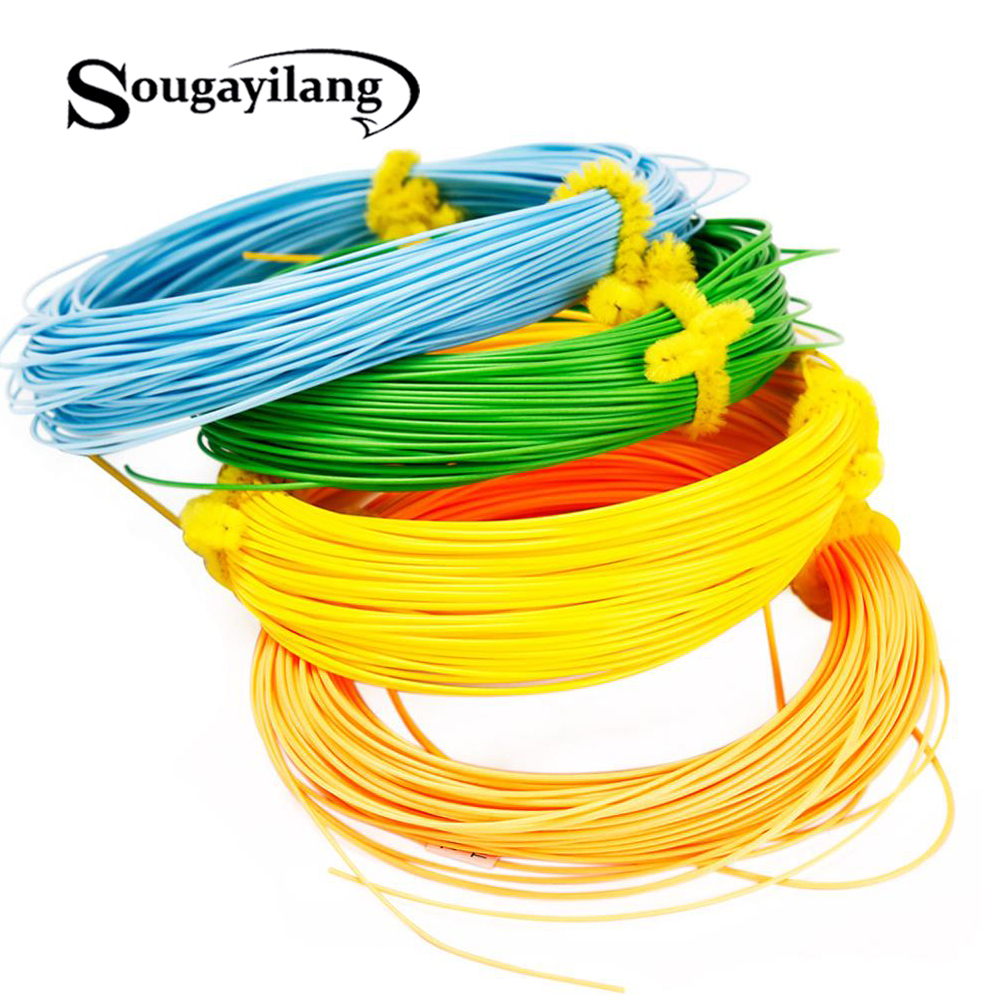 Sougayilang 4F 5F 6F 7F 8F Floating Fly Fishing Cord 100FT Weight Forward Fly Line 6 Colors Polyethylene  Fly Fishing Line