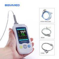 Medico Handheld Pulse Oximetro ossigeno nel sangue Monitor di Frequenza Cardiaca Per Adulti Bambini Neonati Oximetro De Dedo di assistenza sanitaria