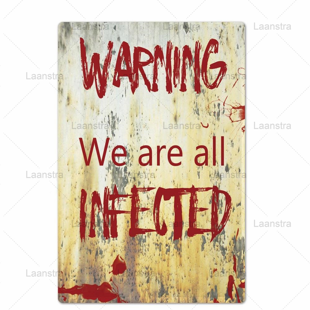 Metal Tin Sign Dark Danger Warning Zombie Signs Personalise Horror Poster Wall Art Decor For Bar Pub Club Danger Zone Iron Brand Plaques Signs Aliexpress