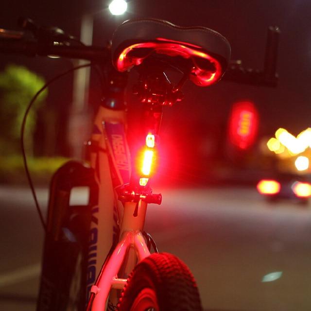Bicicleta quente luz da bicicleta led lanterna traseira cauda aviso de segurança ciclismo luz portátil estilo usb recarregável acessórios da bicicleta 4
