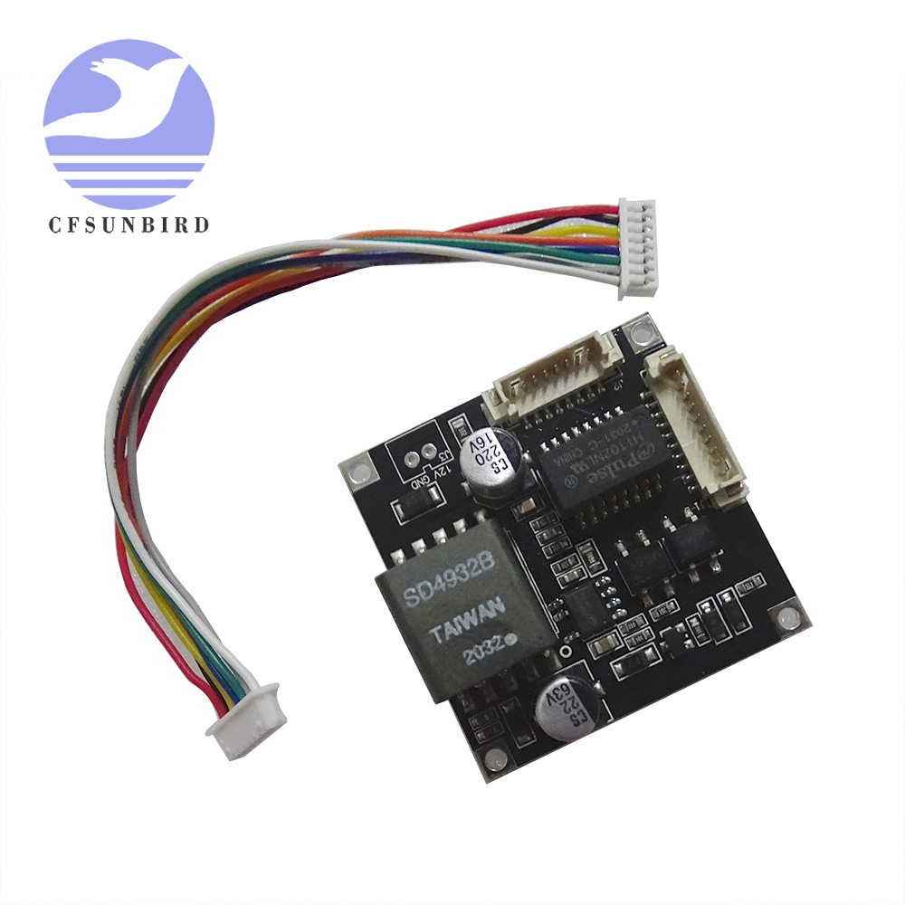 Плата модуля PoE для систем видеонаблюдения, IP-камеры, выход Ethernet 12 в 1 А, совместим с IEEE802.3af
