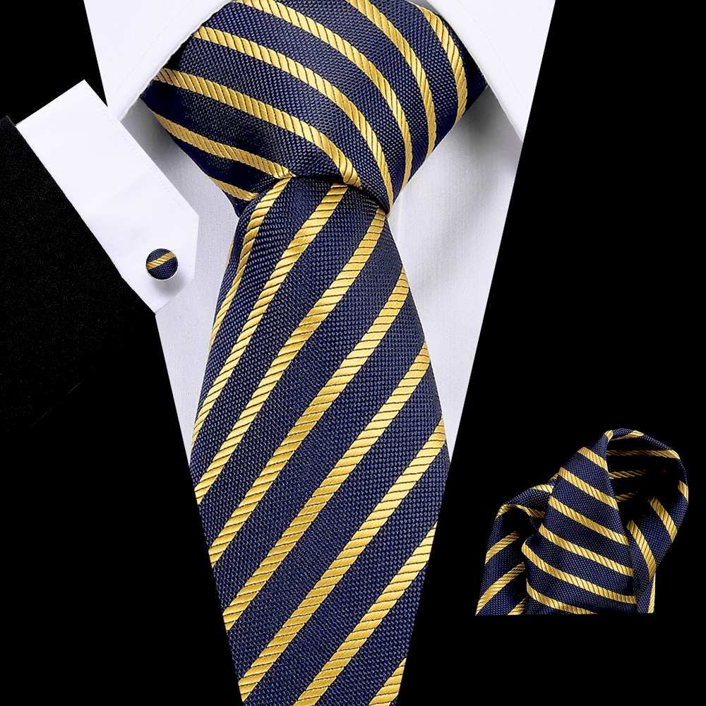 Luxury Men Ties 7.5cm 100%Silk Stripe Necktie Men's Business Wedding Tie Male Flomal Dress Accessories Gravata Mens Classic Ties