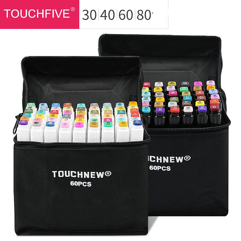 30/40/60/80/168 Color Art Markers Set Dual Headed Artist Sketch Oily Alcohol Based Markers For Animation Marker Pen Marker