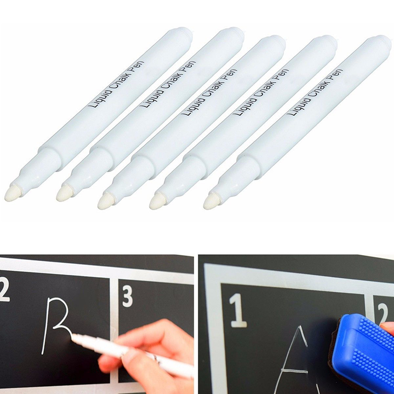 1 Pcs White Liquid Chalk Pen Marker Glass Windows Chalkboard Blackboard Liquid Ink Pen Used On Chalkboard Window White Pen