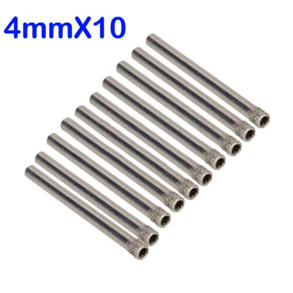 10 Pc 4mm Diamond Coated Drill Bits Set Hole Saw Cutter Tool Glass Granite Tile High Quality And Durable Tool Parts  - AliExpress
