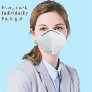 4 Layer KN95 Mask Filtering Facial Face Masks Dustproof Safety Non Woven Earloop Disposable KN95mask Cover Mouth KN95 Dust Masks
