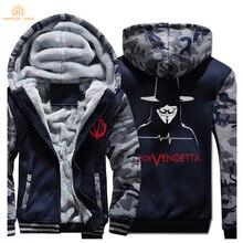 V for Vendetta Mask Guy Fawkes Fashion Hoodies Men