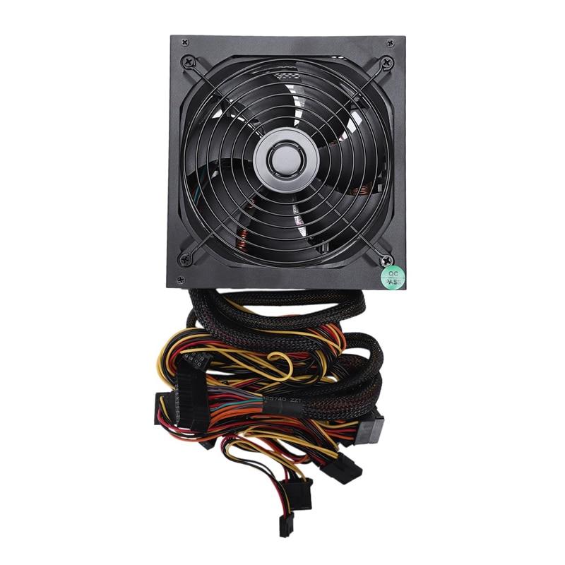 165-260V Max 1000W alimentation Psu Pfc 14Cm ventilateur silencieux 24Pin 12V Pc ordinateur Sata Gaming Pc alimentation pour Intel pour Am
