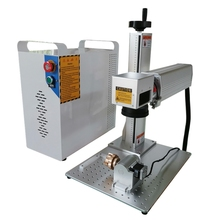 rotary axis included 20W 30W split mini fiber laser metal marking machine gold and silver engraving for sale