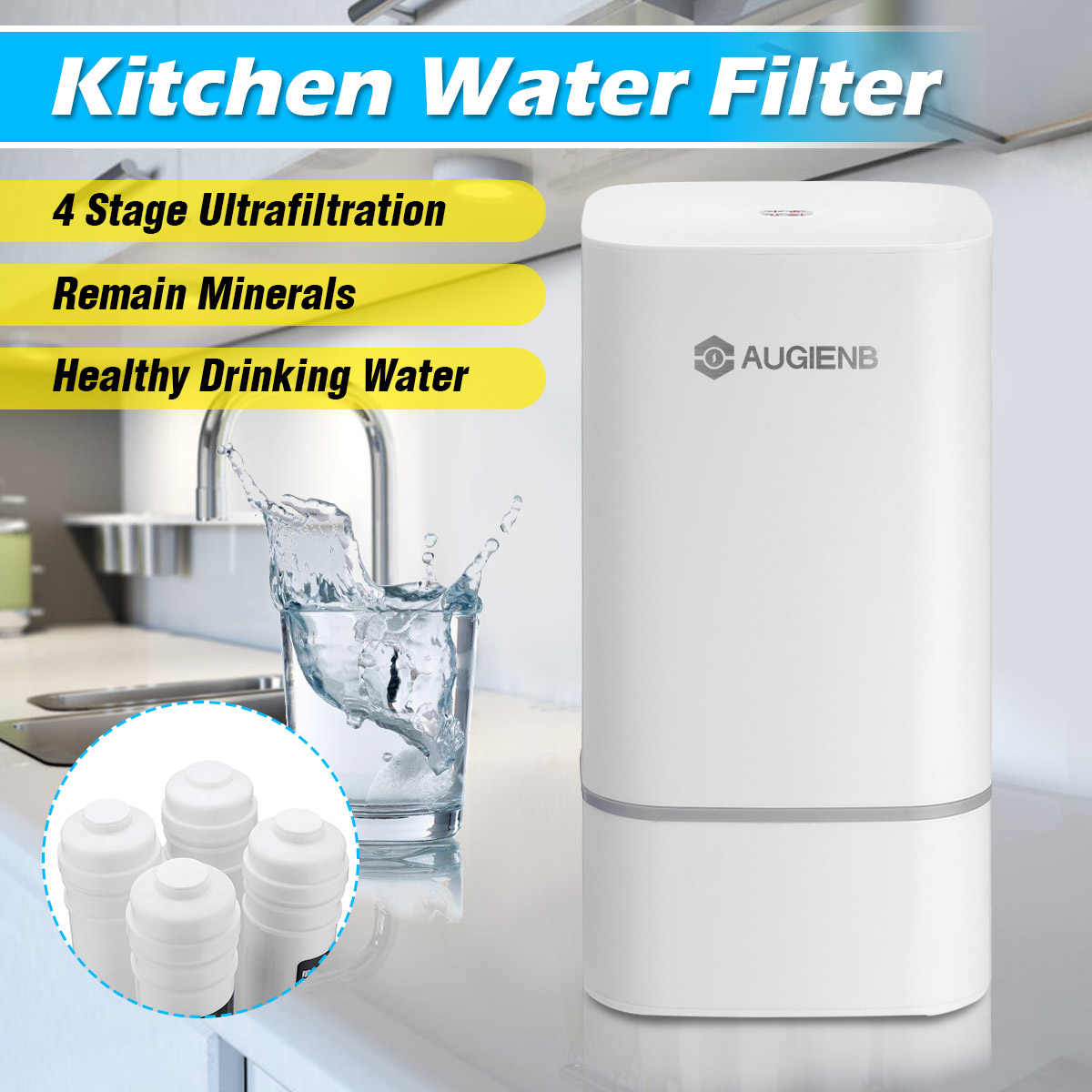 4 Stage Countertop Ro Water Purifier Membrane Reverse Osmosis Water Filter System Technology Kitchen Type Household Use Water Filters Aliexpress