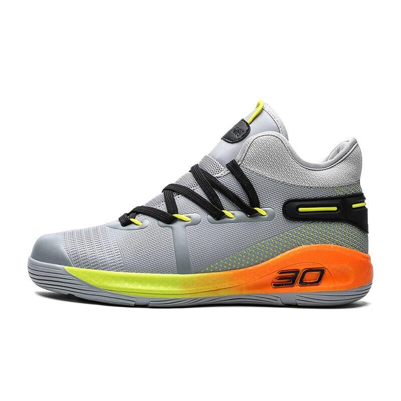 Image 5 - JUNSRM バスケットボールスニーカー男性ブランドカジュアルカップルの靴 Zapatos デやつ男性の保護足首ジョギング非スリップトレーナー男性メンズカジュアルシューズ   -