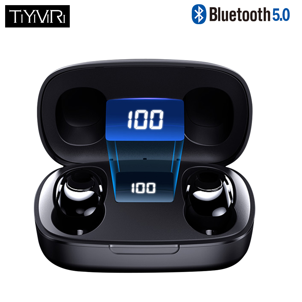 TWS Bluetooth 5.0 Earphones Wireless 6D Stereo In-Ear Active Noise Cancelling Gaming Headset for Smartphones HIFI Mini