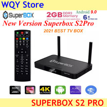 2021 nowa wersja nowy projekt nowa funkcja superbox s2pro 2G + 16GB 6k ultra H.265 smart tv box dla USA kanada łacińska meksyk tv box