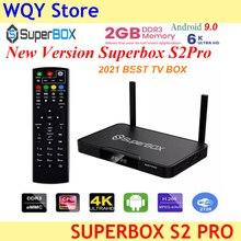 صندوق التلفزيون الذكي superbox s2pro ، 2 جيجا بايت 16 جيجا بايت ، 6 كيلو ، H.265 ، للتلفزيون الذكي ، الولايات المتحدة الأمريكية ، كندا ، المكسيك ، إصدار جديد ، 2021