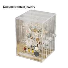Neue Multifunktionale Schmuck Lagerung Box Kunststoff Transparent Staub Ohrringe Finishing Box Desktop Vertikale Lagerung Rack