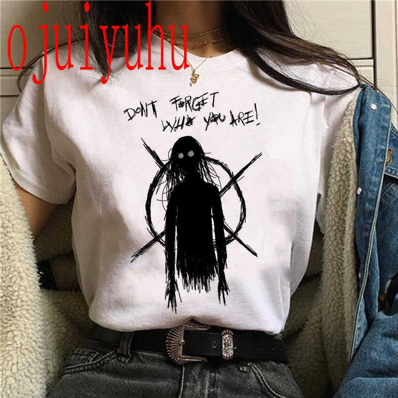 Satana T delle donne Della Camicia di Satanismo alien Male Demone Grim Morte Maglietta femminile Spaventoso divertente Reaper T-Shirt harajuku horror Psichedelico