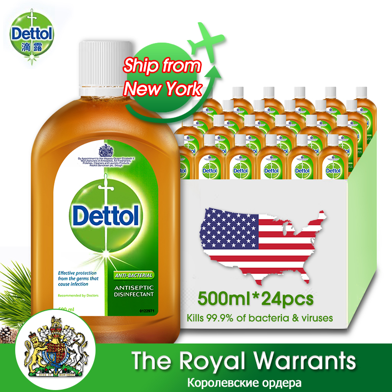 Dettol Original Liquid 500ml * 24 Hand Skin Nursing Home Floor Bedroom Office Clothes Cleaning Health Care Kids Adults