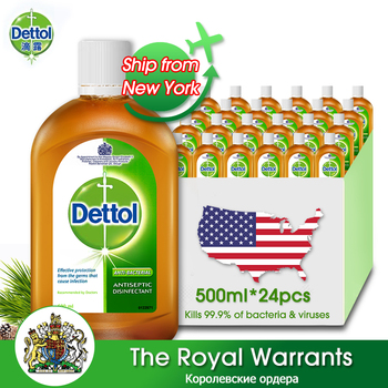 Dettol Original Liquid 500ml * 24 Hand Skin Nursing Home Floor Bedroom Office Clothes Cleaning Health Care Kids Adults liquid health