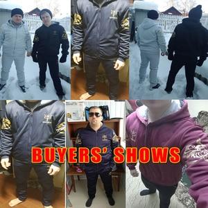 Image 5 - Winter Warm Tracksuit Men Set Casual Jacket Suit Mens Brand Clothing Mens Sweats Suit Two Pieces Zipper Sweatshirt Dropshipping