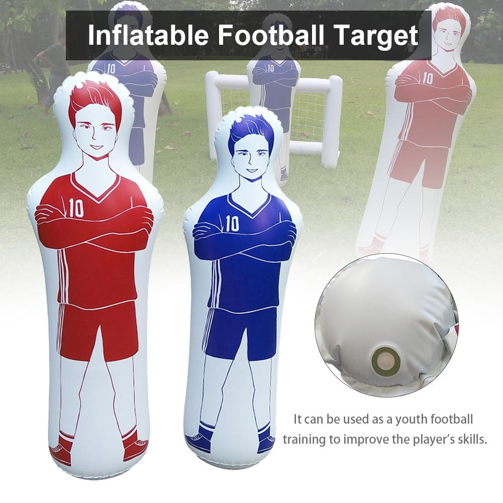160CM Soccer Inflatable Dummy Inflatable Football Training Goal Keeper Tumbler Air Soccer Train Dummy For Adult Children