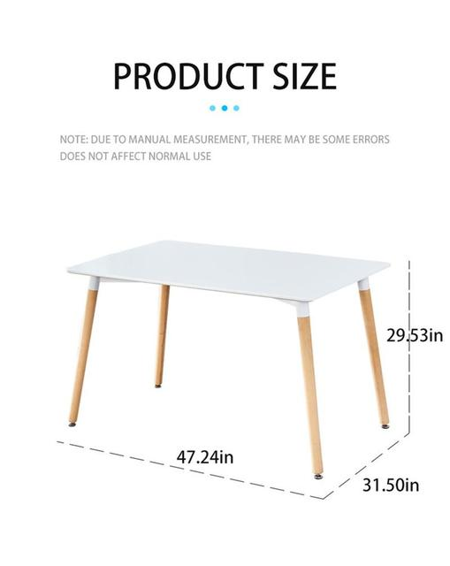 Dining Table Solid Wood Modern Retro Design Simple Durable Bar Table Home Kitchen Breakfast Bar Furniture Dining Table For Home 2