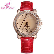 Женские часы со стразами; Модные повседневные кварцевые с кристаллами