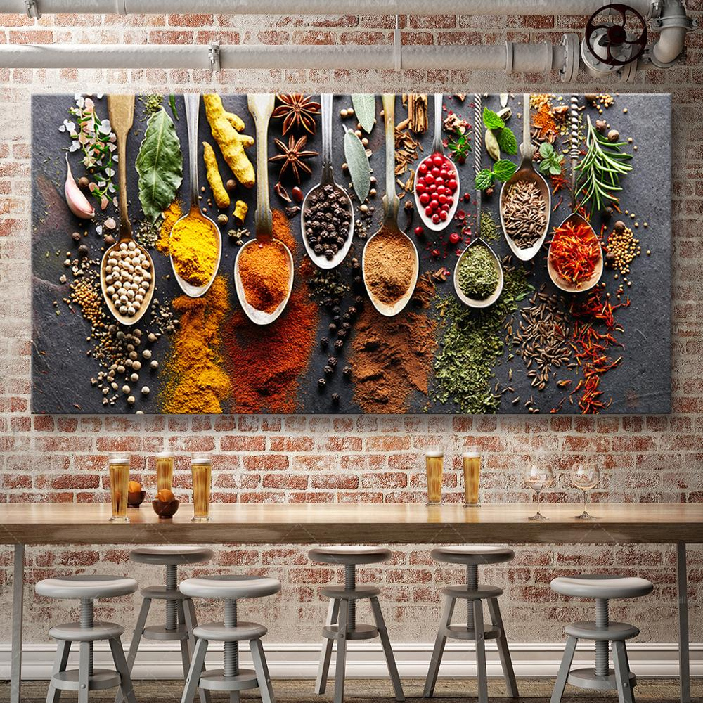 Food Painting Modern Spices Poster Canvas Modular Picture For Kitchen Restaurant Home Decoration Wall Art HD Printed NO Frame