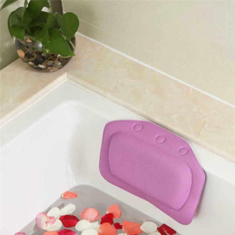 31X21cm kąpieli szyi Pad pcv wygodne SPA poduszka do kąpieli wanna łazienka szyi zagłówek samochodowy podkładka ssania Anti-slip środowiska Pad