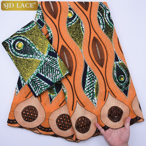 Image 5 - שעווה אפריקאית בד תחרה מכירה לוהטת האחרון הגעה שעווה תחרה עם תחרת חוט תחרה בד ניגרי חתונה מסיבת שמלת A1295