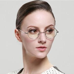 Image 3 - 2020 Tiny Round Computer Glasses Frame Women Rays Radiation optical Eyeglasses Frames Metal Unisex Anti Blue Light Glasses Men