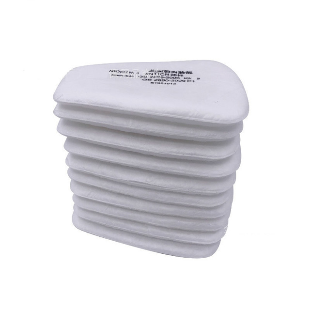 10 20pcs/Pack 5N11 Pre Filters Replaceable Cotton Filter Dust Particulate Filter For 6000/7000 Dust Gas Mask Chemical Respirator