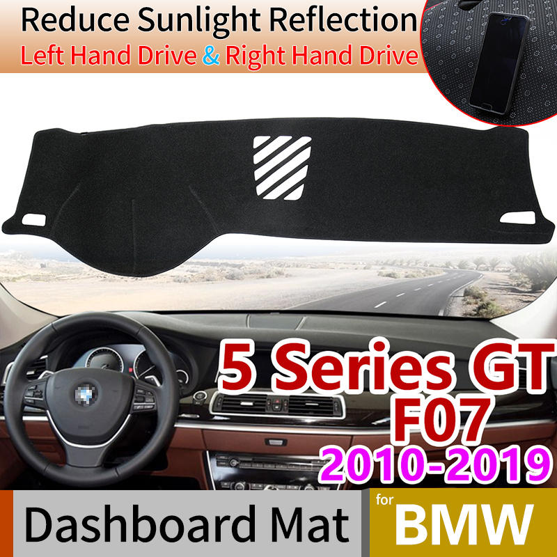 for BMW 5 Series GT F07 2010~2019 Anti-Slip Anti-UV Mat Dashboard Cover Pad Dashmat Protect Carpet Accessories 528i 535i 550i image
