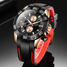 LIGE 10025 New Men Watches Silicone Strap