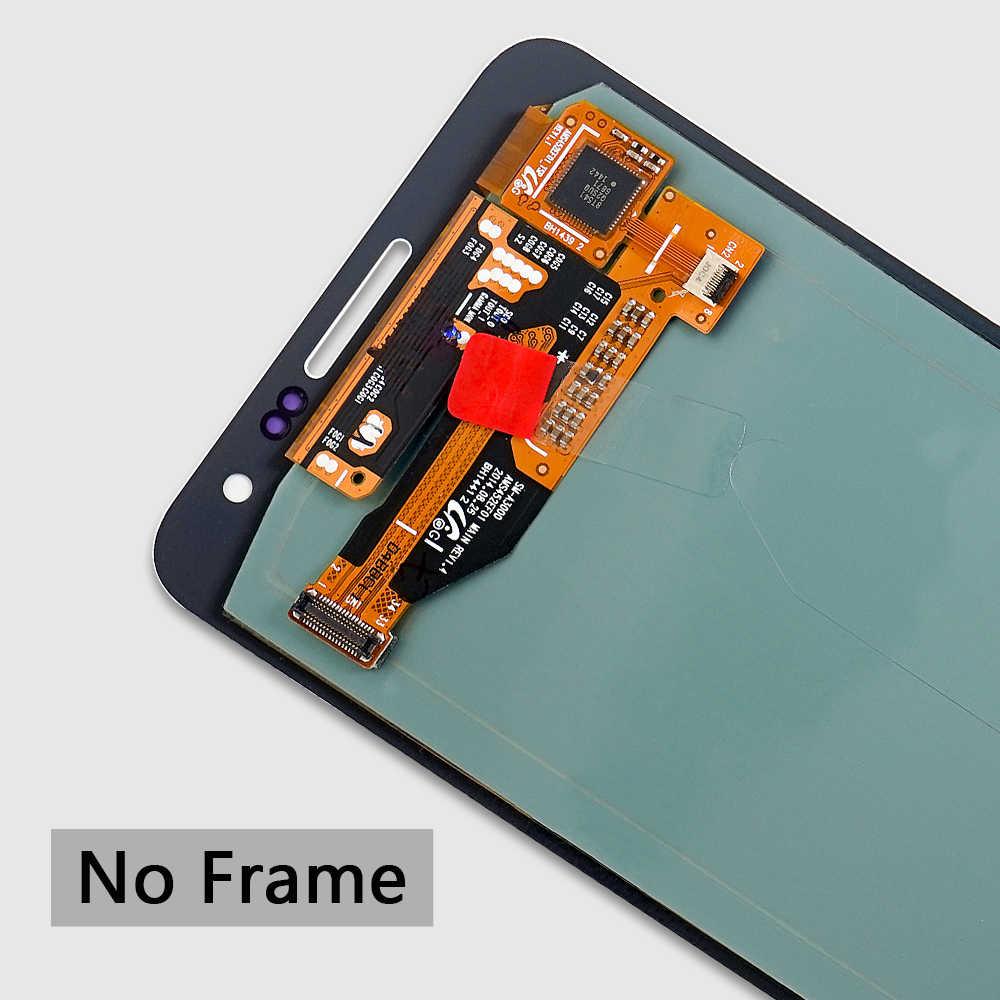 سوبر AMOLED لسامسونج غالاكسي A300 شاشة الكريستال السائل محول الأرقام بشاشة تعمل بلمس لسامسونج A3 2015 LCD A300H A300F A300 العرض