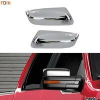 ABS Mirror Chrome Upper Top Half Rear View Mirror Cover Cap Trim for Ford F150 2009 2014
