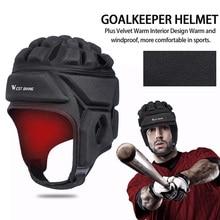 Rugby Helmet Headguard Breathable Sports Helmet Velour Skating Riding Hat Head Protector Headgear for Winter Use