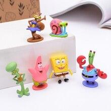 Kids Toys Figures-Collection Sponge Garage-Kits Action-Figure Figma Anime Character Cartoon