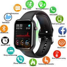 LIGE 2021 New Full Touch Smart Watch Women Waterproof Bracelet Heart Rate Monitor Sleep Monitor Smartwatch Men For IOS Android