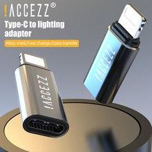 ! Accezz para iphone otg adaptador de iluminação para tipo c fêmea para iphone 11 pro x usb c cabo conversor de carregamento conector de sincronização de dados
