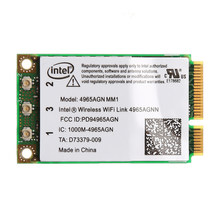Carte Mini PCI-E sans fil pour Intel 4965AGN NM1, 2.4 GHz/5 Ghz, 300Mbps, lien WiFi, double bande
