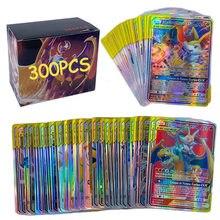 Tomy 300 pçs versão francesa pokemon cartão gx vmax brilhante tag equipe batalha carte cartas de negociação jogo crianças brinquedo