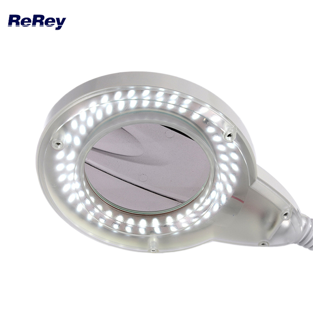LED Magnifying Lamp Adjustable 3X 5X Glass Cold Light Magnifier Foldable Design For Nail Art Tatoo Beauty Arts Tool