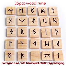 25 sztuk naturalne Mini kwadratowe Rune drewniane runy runy wróżbiarstwo wróżbiarstwo uzdrawianie Reiki medytacja prezent wystrój tanie tanio CN (pochodzenie) FAIRY FENG SHUI CHINA Kamień