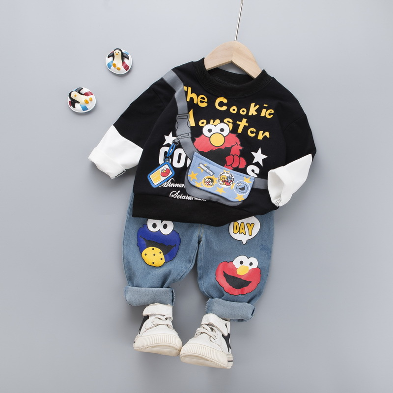 Baby Boy Clothing Suits 2020 Spring Autumn Cartoon Baby Girl Clothes Sets Children Sweatshirts Sports Pants 2PCS Kids Set