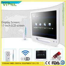 Caméra dentaire intra-orale HD 5 millions de Pixels, tout-en-un avec écran LCD 17 pouces + sortie USB/Wifi, Endoscope dentaire avec support