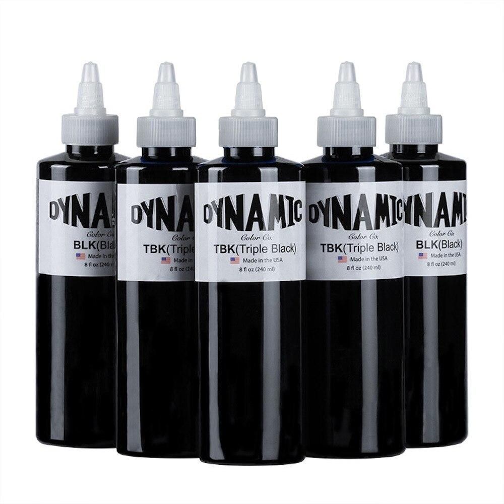 Бренд DYNAMIC, краска для татуировок черный 240 мл американский бренд, Перманентный макияж, пигмент, профессиональное коричневое чернила для мик...