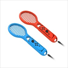 2Pcs/lot For M-ario Tennis ACE Game Playing ABS Tennis Racket Handle Controller For Nintend Switch NS JOY-CON Accessories Newest цены