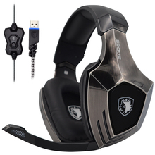 SADES A60 High-end Gaming Headset 7.1 Channel Stereo Surround Sound Bass Game Headphones with Rotary Microphone sades xpower plus gaming headphones stereo surround sound headphone 2 level vibration effect gamer headset over ear casque