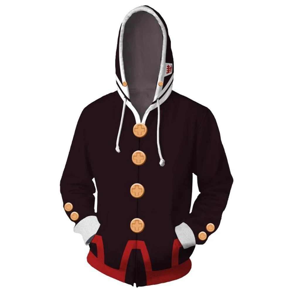 אנימה אסלה בכריכת Hanako-kun Hanako Kun ננה יאשירו Cosplay 3D Zip הסווטשרט לגברים נשים הסווטשרט מעיל חולצות Streetwear
